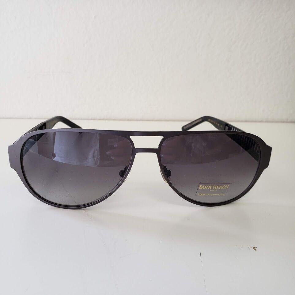 Boucheron Grey Aviator Sunglasses BES 105.01 62-14-140