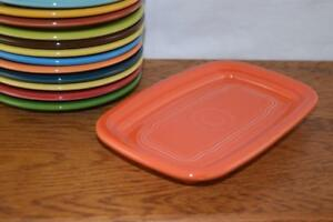 POPPY-Fiesta-Extra-Large-Butter-Dish-TRAY-ONLY-Great-side-plate-tray