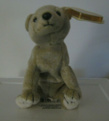 """Almond the Bear Approx Retired 1999 TY Beanie Baby New with Tags 6-7/"""""""