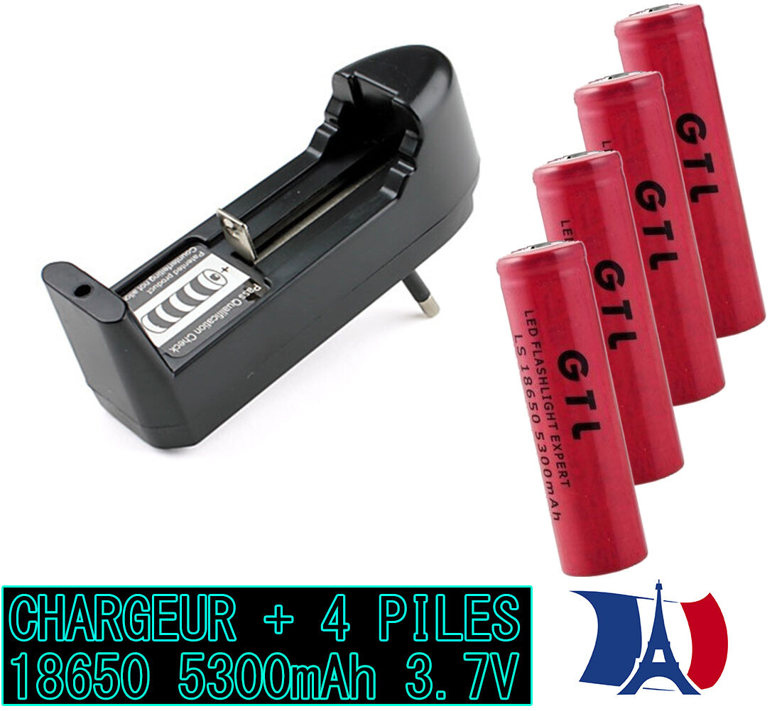 4 battery batteries 3.7v 5300mah rechargeable battery li