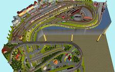 "GP4-0020 Märklin C-Gleis-Plan ""Feldafing"" 375x340x245cm (DIN A4-Mappe Color)"