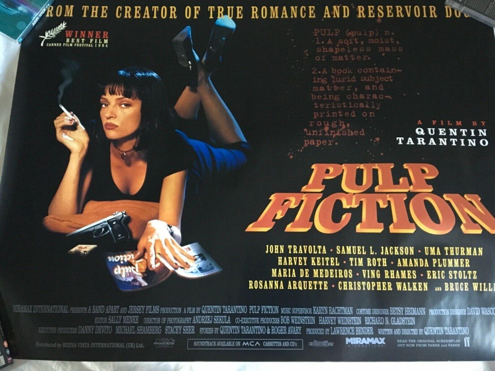 Langfristige Exponate Pulp Fiction UK quad poster original in mint ...