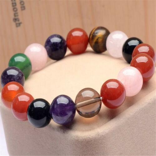 1pcs Multicolore Cristal Pierre Précieuse Bracelet veines énergie Fancy Bless chakas