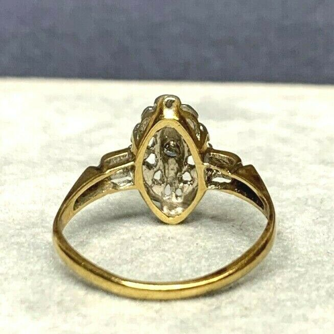 Antique Victorian 14k Yellow and White Gold Pierc… - image 9