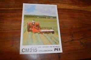 Pezag Cm164 Operators Manual And Parts Book Tractor Manuals & Publications