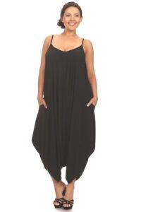 b78149a9aefd New Women s Plus Size Black Harem Jumpsuit Romper Sizes 1X 2X 3X 4X ...
