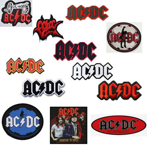 ACDC Orange /& Black 12cm x 7cm Patch Embroidered Sew or Iron on Badge