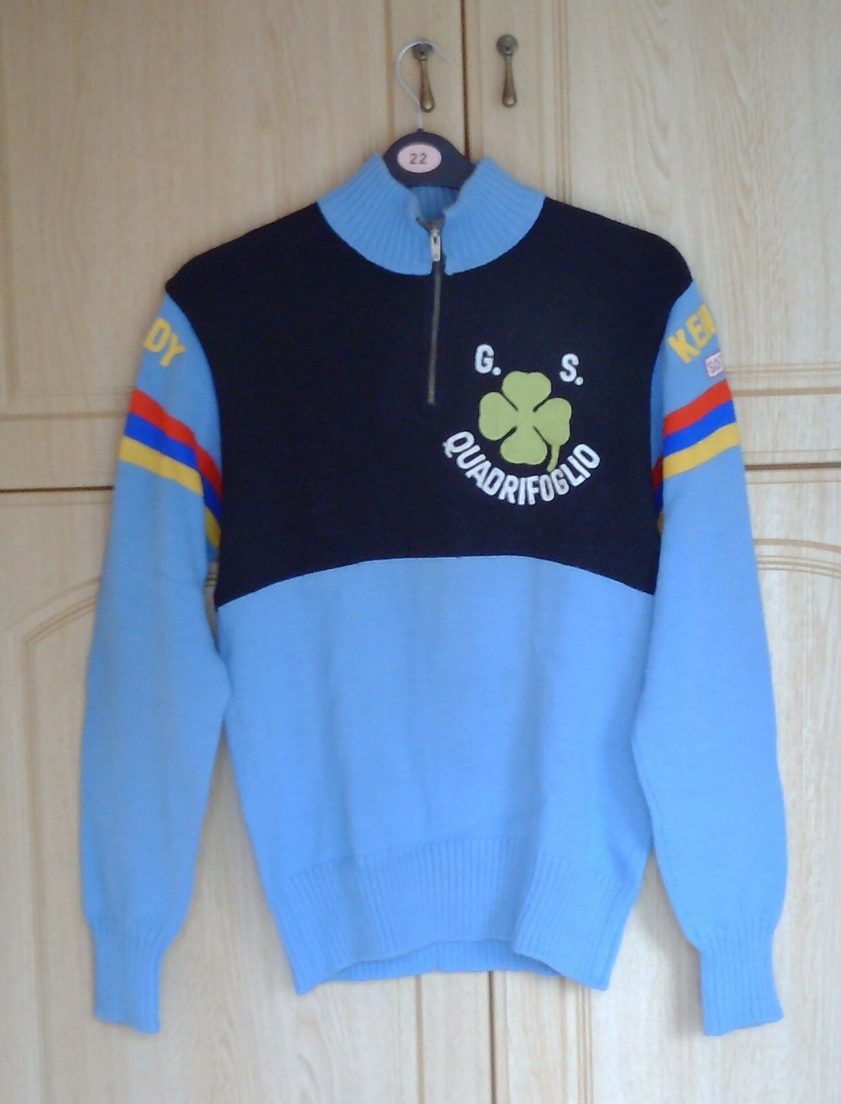 KENNEDY G.S. QUADRIFOGLIO WOOL CYCLING JERSEY,TORTELLI OF ITALY