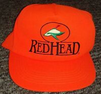 Vintage Redhead Fluorescent Orange Duck Logo Safety Snap Back Hunting Hat