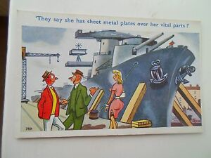 Vintage-Comic-Postcard-NEW-SHIP-SAUCY-HUMOUR-Artist-Signed-TROW-789-Unused