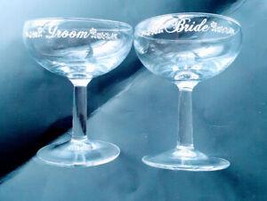 Bride-and-Groom-Lettered-Vintage-Wedding-Toast-Champagne-Glasses