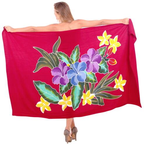 "LA LEELA Women/'s Swimsuit Sarong Swimwear Cover-Up Beach Wrap 78/""x43/"" Red/_Q874"