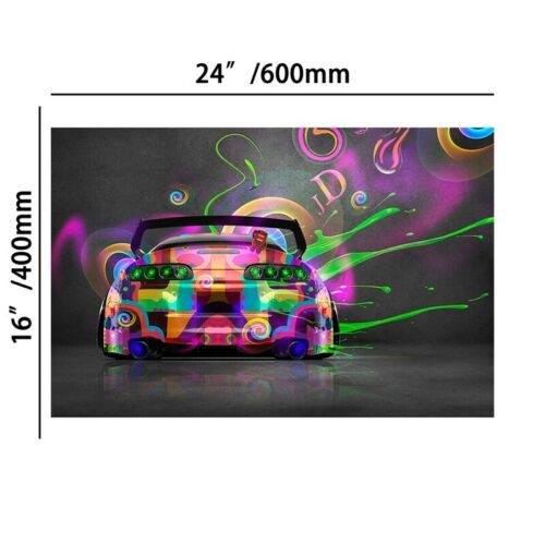 Colorful Car Posters Wall Hanging Pictures Canvas Paintings Prints