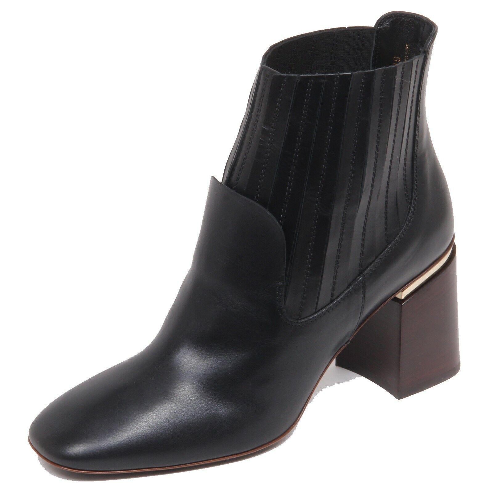 F5938 Tronchetto mujer Negro Bota Zapato Mujer TOD'S zapatos