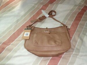KANGOL-HANDBAG-SHOULDER-BAG-LARGE-MAIN-COMPARTMENT-amp-FRONT-POCKET-TAN-BROWN