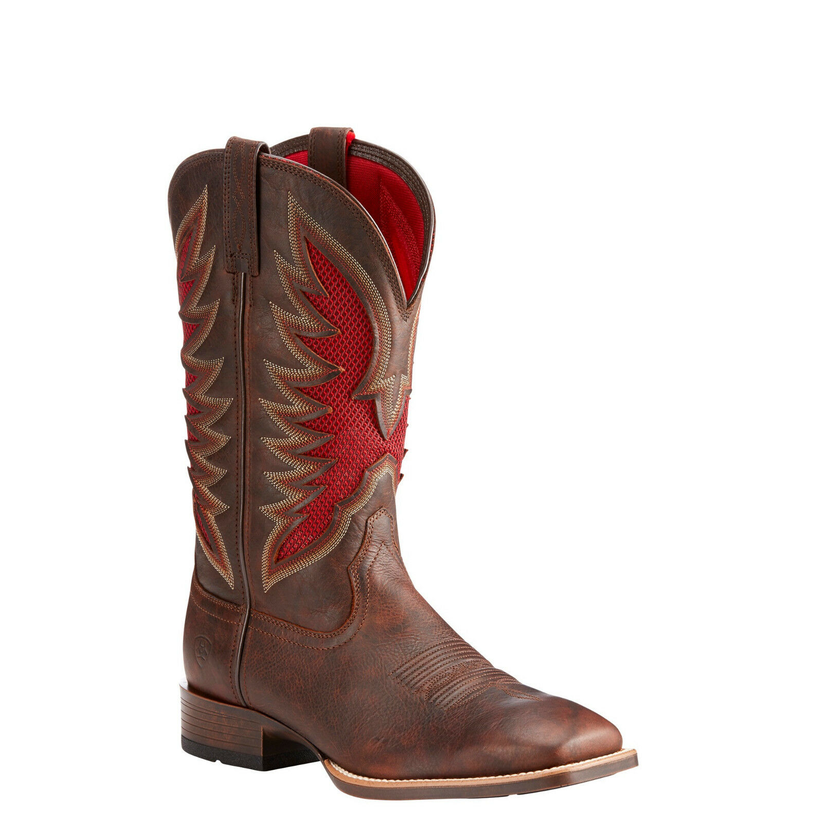 Ariat® Men's Venttek™ Ultra Barley Brown Red Square Toe Boots 10023174
