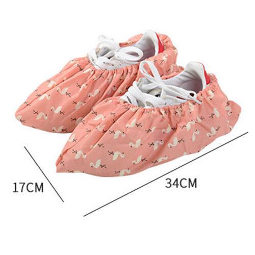 1 Pair Reusable Washable Elastic Shoe Cover Home Indoor Antiskid OvershoesLDUK
