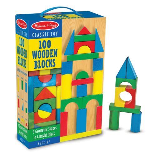 Wooden Blocks Set Brand New Melissa /& Doug