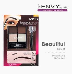 kiss beautiful brow kit eye makeup eyebrow stencils brush