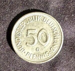 """1975 - 50 Pfennig - Bundesrepublik Deutschland - Münzprägung """"D """" 1 Stück - Deutschland - 1975 - 50 Pfennig - Bundesrepublik Deutschland - Münzprägung """"D """" 1 Stück - Deutschland"""