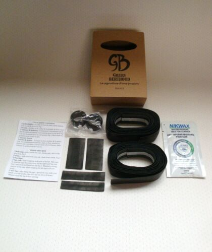 NEW IN BOX GILLES BERTHOUD BLACK LEATHER CALF HANDLEBAR TAPE MADE IN FRANCE