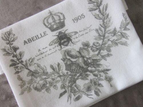 ~ Abeille FRENCH Bee Crown Wreath Flour Sack Kitchen Towel Dish Towel ~