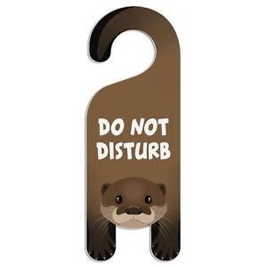 River Otter Do Not Disturb Plastic Door Knob Hanger Warning Room ...