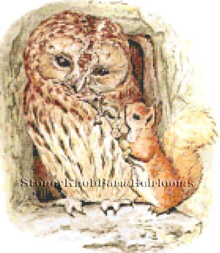 Brown ~ Squirrel Nutkin 2 ~ Beatrix Potter ~ Cross Stitch Pattern Owl ~ Old Mr