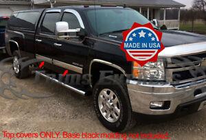 2009-2013-Chevy-Silverado-Crew-Cab-Chrome-Body-Side-Molding-Overlay-4-1-4-034-Trim