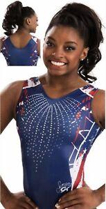 a1465e9bc90b Simone Biles GK Elite LEOTARD Gymnastics FIREWORK Sequin BLING ...
