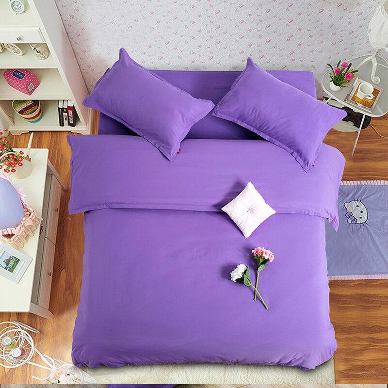 3D lila Mädchen Warm98 Bett Pillowcases Quilt Duvet Startseite Set Single Königin König CA