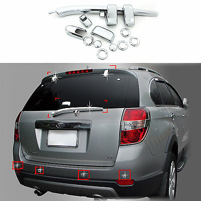 Chrome Exterior Rear Tail Gate Molding Trim Cover for 06-14 Chevrolet Captiva