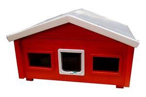 Maison de campagne extérieure pour maison de chat résistante aux intempéries avec chatière 2 fenêtres - Rs2-l-2f