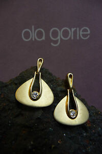 Ola-Gorie-9ct-Oro-Orecchini-di-Diamanti-in-Scatola-Scozzese