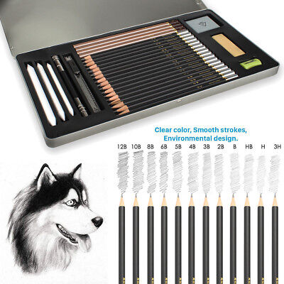 29 x Drawing Sketching Sketch Pencil Pen Set Student Stationery Artists Tool NEW
