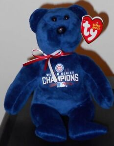 cdfee72e990 Ty Beanie Baby - MLB Baseball Bear - CHAMPION (CHICAGO CUBS 2016 ...