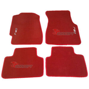 Fit-92-95-Honda-Civic-EJ-EG-EH-EK-Red-Nylon-Floor-Mats-Carpets-4pcs ...
