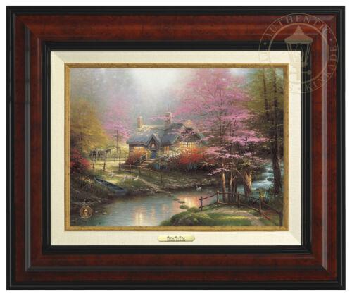 Thomas Kinkade Stepping Stone Cottage 9 x 12 Canvas Classic Framed