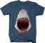 Great-White-Shark-Jaw-Bloody-Mouth-Wide-Open-Fishing-Ocean-Tshirt miniatuur 6