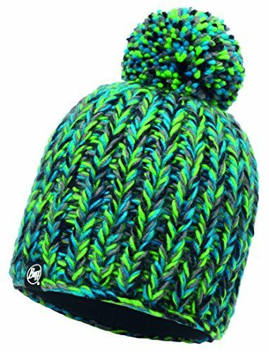 Buff Skyler Green Hat Knitted, One Size