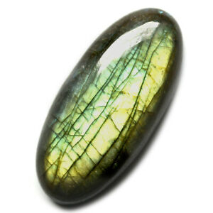 Cts-37-55-Natural-Green-Fire-Labradorite-Cabochon-Oval-Cab-Loose-Gemstone
