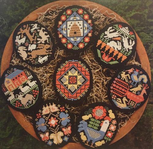Folk Art Eggs Prairie Schooler Cross Stitch Pattern Original 169