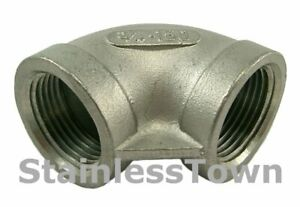 304-Stainless-Steel-Threaded-90-Degree-Pipe-Elbow-18-8-Stainless-Size-3-4-inch