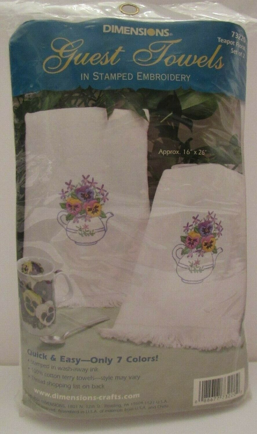 Dimensions Needlecrafts Roses and Ivy Guest Towels