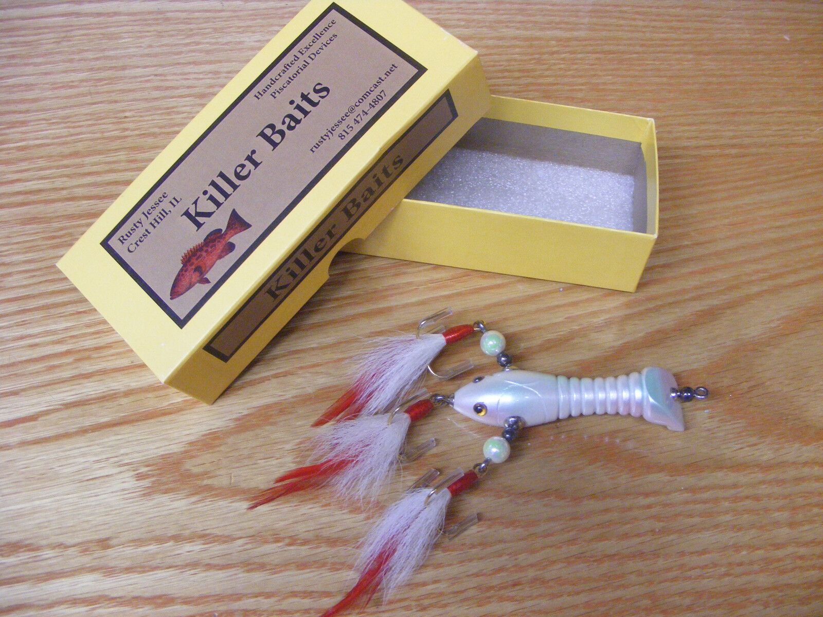 Killer Baits Rusty Jessee Contemporary Glasseye Baby Crawfish in Ice Pearl color
