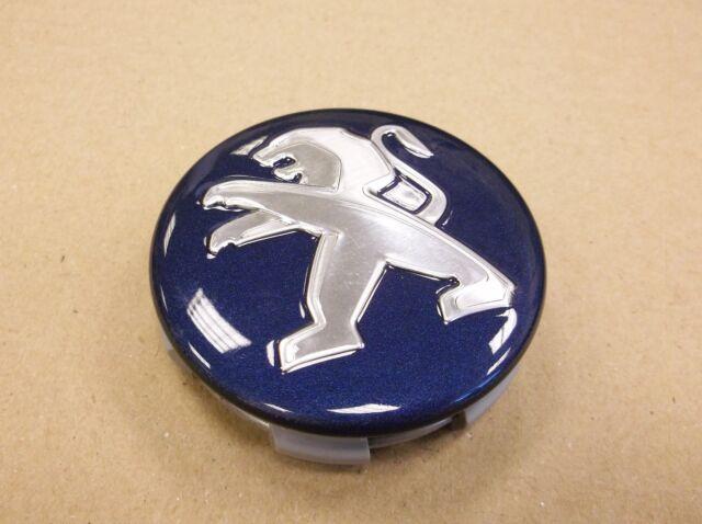 1608837080 Genuine Peugeot 208 Alloy Wheel Centre Caps Virtual Blue