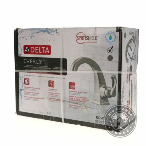 """NEW Delta Everly 4/"""" Centerset Single Handle Bathroom Faucet in Brushed Nickel"""