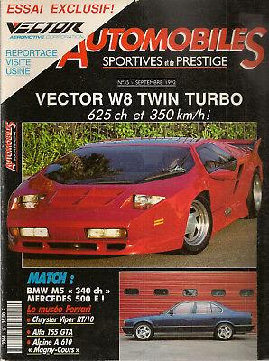 Automobiles Sportives Et De Prestige 35 Vector W8 Twin Turbo A610 Turbo Magny Co Warm En Winddicht