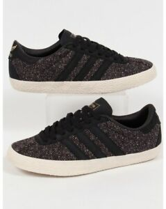 unique design superior quality exclusive deals Details about adidas gazelle 70s tweed trainers 9.5us 9uk 43 1/3eu 27.5cm  black vintage look