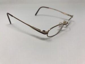 362763d706 EASYCLIP Eyeglasses S2440 46-19-135 Gold Brown Trim Flex Hinge ...